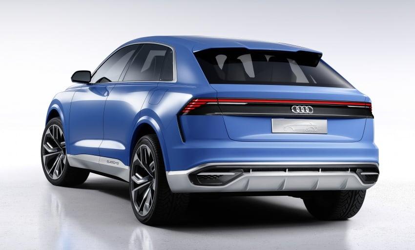 Audi Q8 concept debuts in Detroit – 448 hp plug-in hybrid, 0-100 km/h in 5.4 seconds, 1,000 km range Image #601288