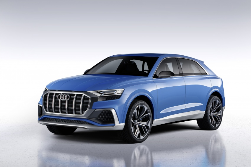 Audi Q8 concept debuts in Detroit – 448 hp plug-in hybrid, 0-100 km/h in 5.4 seconds, 1,000 km range Image #601289