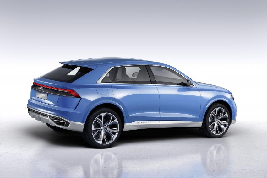 Audi Q8 concept debuts in Detroit – 448 hp plug-in hybrid, 0-100 km/h in 5.4 seconds, 1,000 km range Image #601292