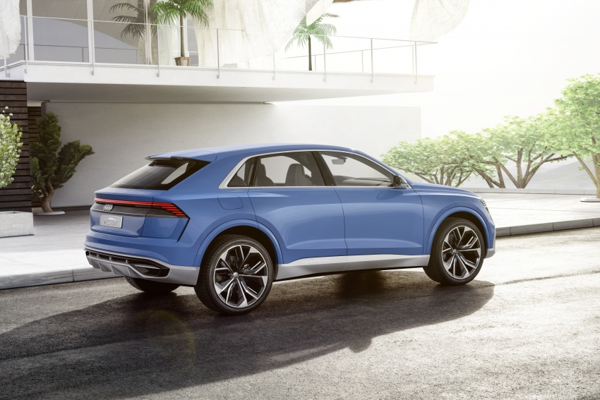 Audi Q8 concept debuts in Detroit – 448 hp plug-in hybrid, 0-100 km/h in 5.4 seconds, 1,000 km range Image #601293