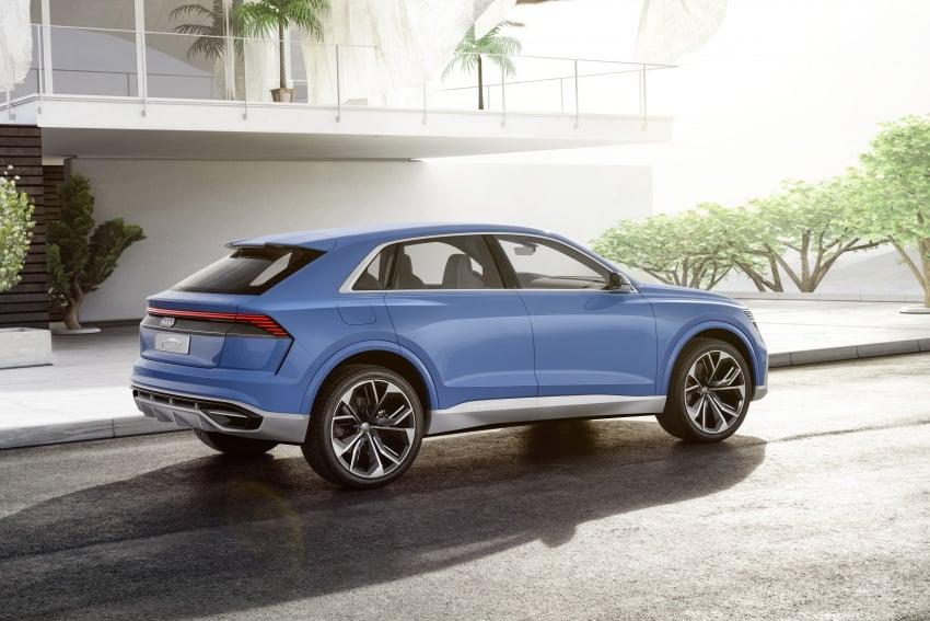 Audi Q8 concept debuts in Detroit – 448 hp plug-in hybrid, 0-100 km/h in 5.4 seconds, 1,000 km range Image #601293