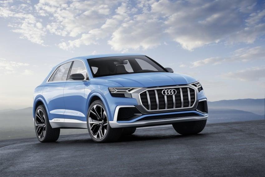 Audi Q8 concept debuts in Detroit – 448 hp plug-in hybrid, 0-100 km/h in 5.4 seconds, 1,000 km range Image #601296