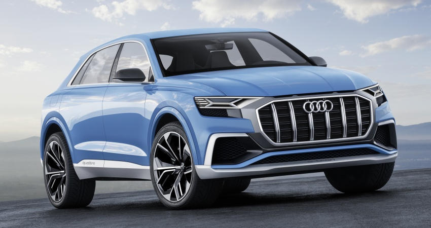 Audi Q8 concept debuts in Detroit – 448 hp plug-in hybrid, 0-100 km/h in 5.4 seconds, 1,000 km range Image #601197