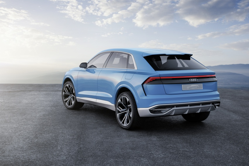 Audi Q8 concept debuts in Detroit – 448 hp plug-in hybrid, 0-100 km/h in 5.4 seconds, 1,000 km range Image #601298