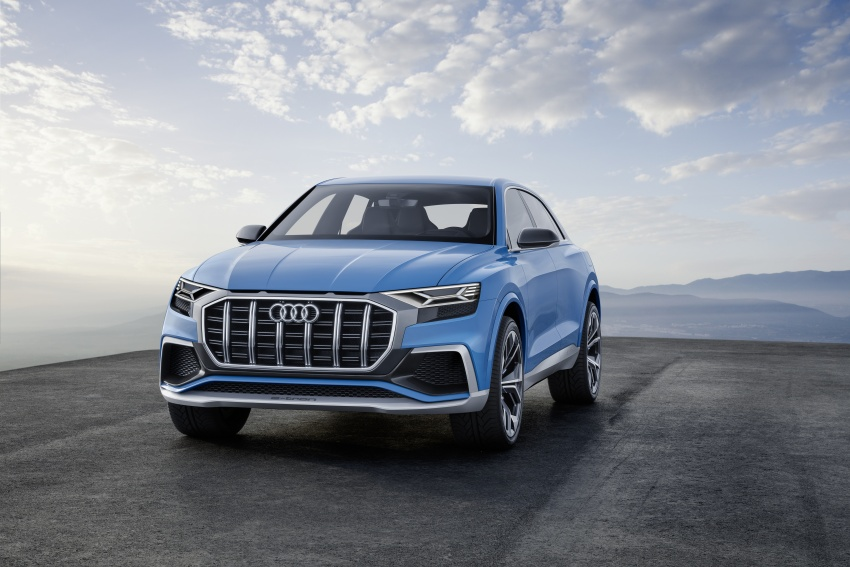 Audi Q8 concept debuts in Detroit – 448 hp plug-in hybrid, 0-100 km/h in 5.4 seconds, 1,000 km range Image #601330