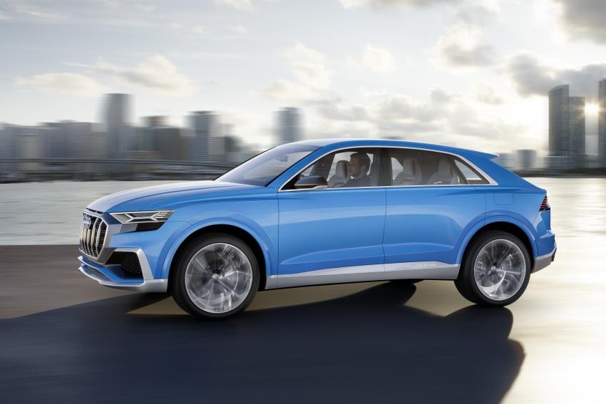 Audi Q8 concept debuts in Detroit – 448 hp plug-in hybrid, 0-100 km/h in 5.4 seconds, 1,000 km range Image #601345
