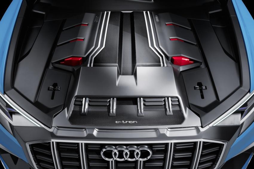 Audi Q8 concept debuts in Detroit – 448 hp plug-in hybrid, 0-100 km/h in 5.4 seconds, 1,000 km range Image #601360