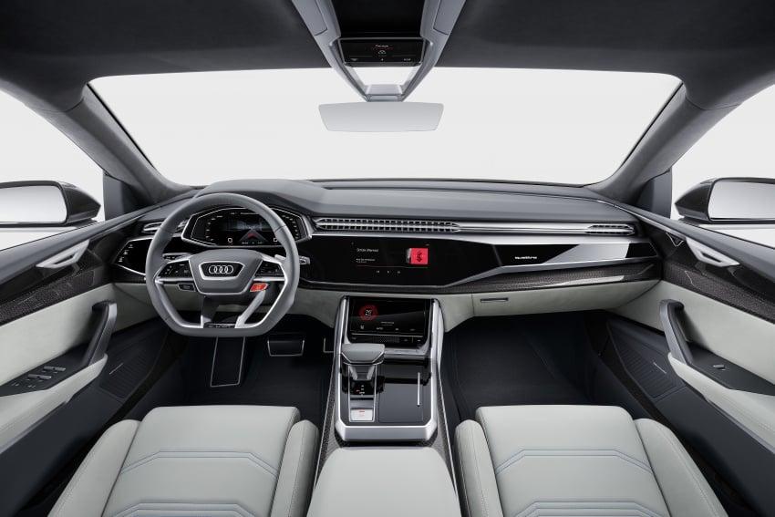 Audi Q8 concept debuts in Detroit – 448 hp plug-in hybrid, 0-100 km/h in 5.4 seconds, 1,000 km range Image #601365