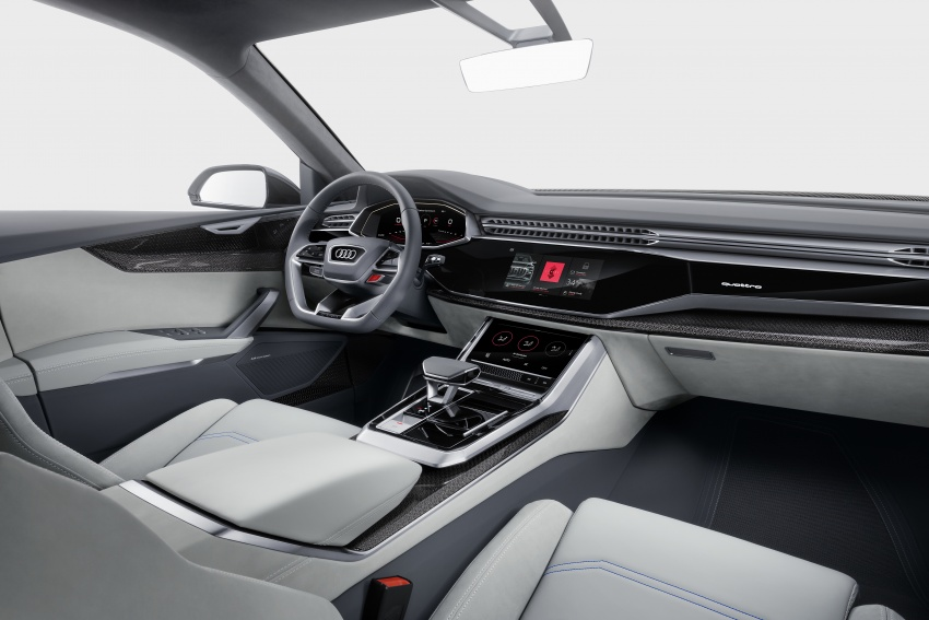 Audi Q8 concept debuts in Detroit – 448 hp plug-in hybrid, 0-100 km/h in 5.4 seconds, 1,000 km range Image #601368