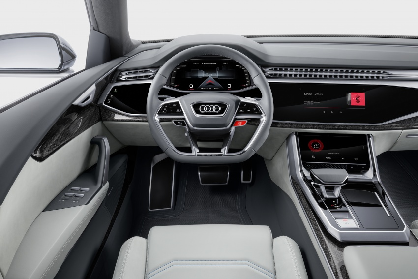 Audi Q8 concept debuts in Detroit – 448 hp plug-in hybrid, 0-100 km/h in 5.4 seconds, 1,000 km range Image #601373