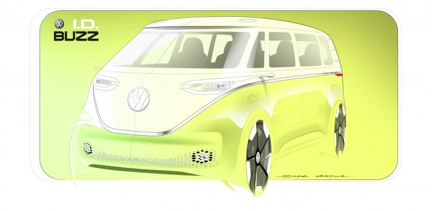 Volkswagen I.D Buzz Concept – jelmaan semula 'Kombi Van' dengan janakuasa elektrik sepenuhnya Image #600525