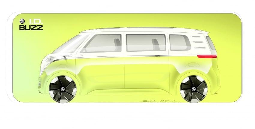 Volkswagen I.D Buzz Concept – jelmaan semula 'Kombi Van' dengan janakuasa elektrik sepenuhnya Image #600523