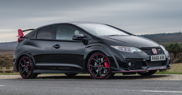 honda civic type r black edition launched only 100. Black Bedroom Furniture Sets. Home Design Ideas