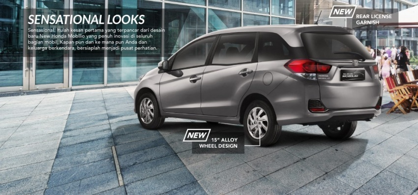 Honda Mobilio MPV facelift launched in Indonesia Image #603000