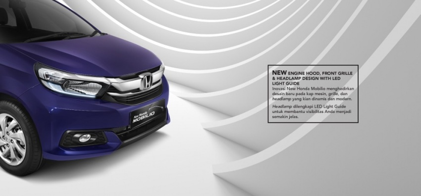 Honda Mobilio facelift dilancarkan di Indonesia – MPV tujuh tempat duduk, harga bermula dari RM63k Image #603200