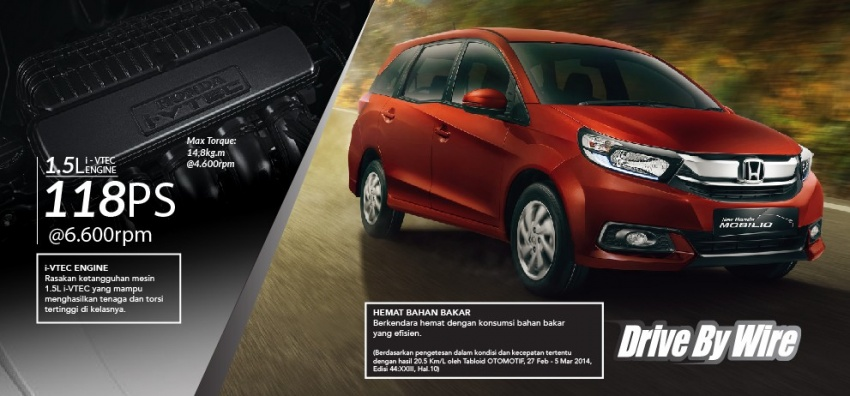 Honda Mobilio MPV facelift launched in Indonesia Image #603009