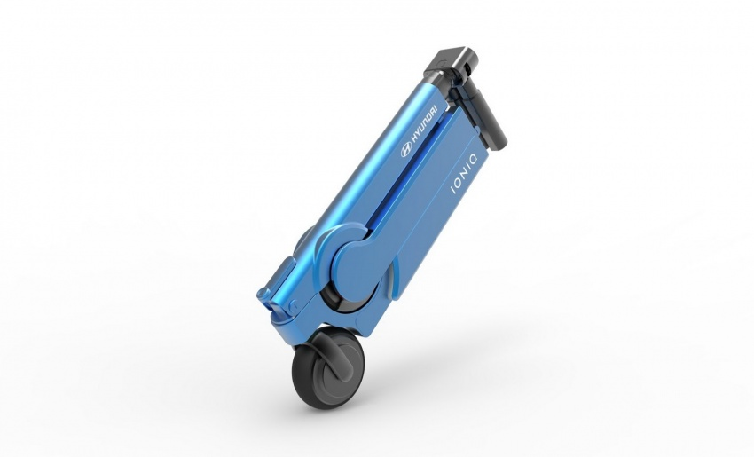 Hyundai Electric Scooter Folds Into Ioniq Ev Door Pocket
