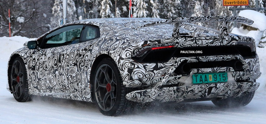 SPIED: Lamborghini Huracan Superleggera, Spyder Performante seen testing ahead of 2017 Geneva debut Image #601716