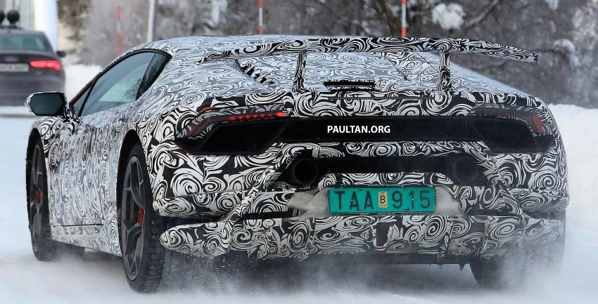 SPYSHOT: Lamborghini Huracan Superleggera, Spyder Performante diuji sebelum tampil di Geneva 2017 Image #602163