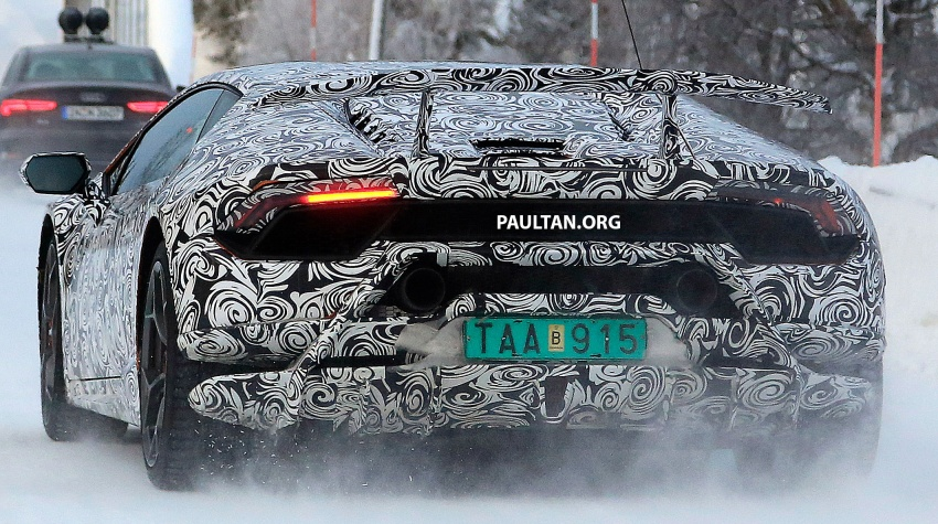 SPIED: Lamborghini Huracan Superleggera, Spyder Performante seen testing ahead of 2017 Geneva debut Image #601719