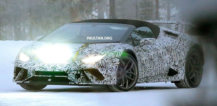 SPIED: Lamborghini Huracan Superleggera, Spyder Performante seen testing ahead of 2017 Geneva debut Image #601720