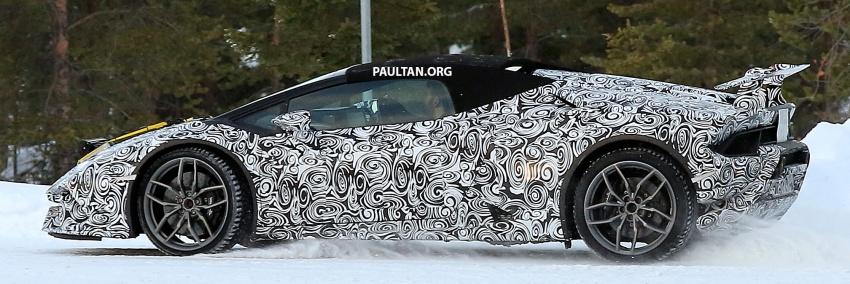 SPYSHOT: Lamborghini Huracan Superleggera, Spyder Performante diuji sebelum tampil di Geneva 2017 Image #602157