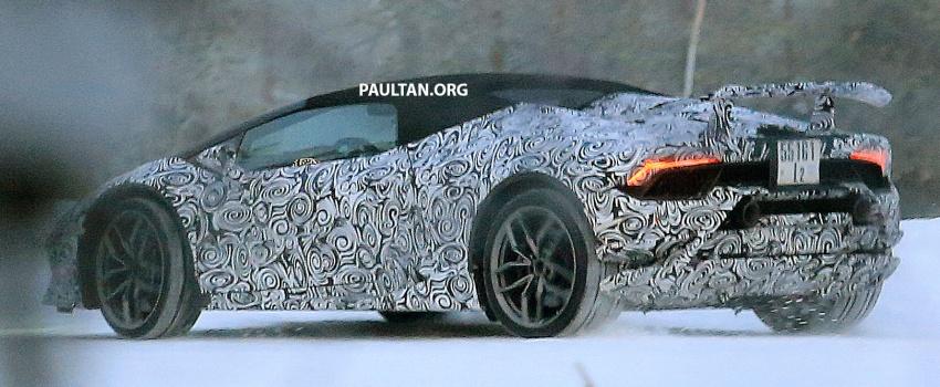 SPIED: Lamborghini Huracan Superleggera, Spyder Performante seen testing ahead of 2017 Geneva debut Image #601724