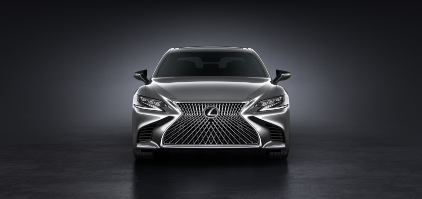 2018 Lexus LS 500 debuts with new 3.5 litre biturbo V6, 10-speed auto, pedestrian avoidance, 24-inch HUD Image #615709