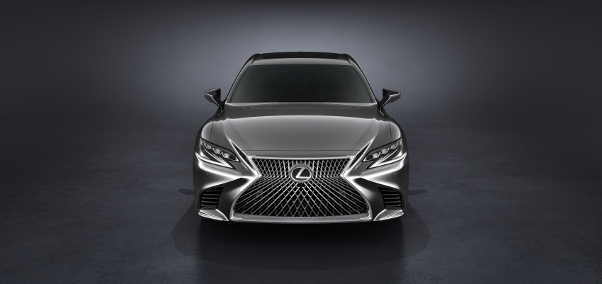 2018 Lexus LS 500 debuts with new 3.5 litre biturbo V6, 10-speed auto, pedestrian avoidance, 24-inch HUD Image #615710
