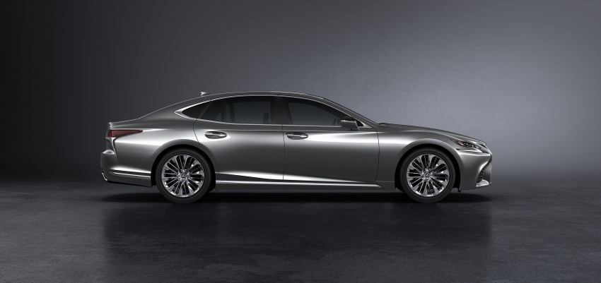 2018 Lexus LS 500 debuts with new 3.5 litre biturbo V6, 10-speed auto, pedestrian avoidance, 24-inch HUD Image #615713