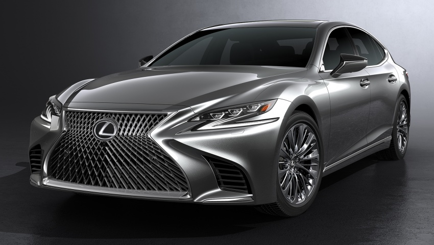 2018 Lexus LS 500 debuts with new 3.5 litre biturbo V6, 10-speed auto, pedestrian avoidance, 24-inch HUD Image #615714