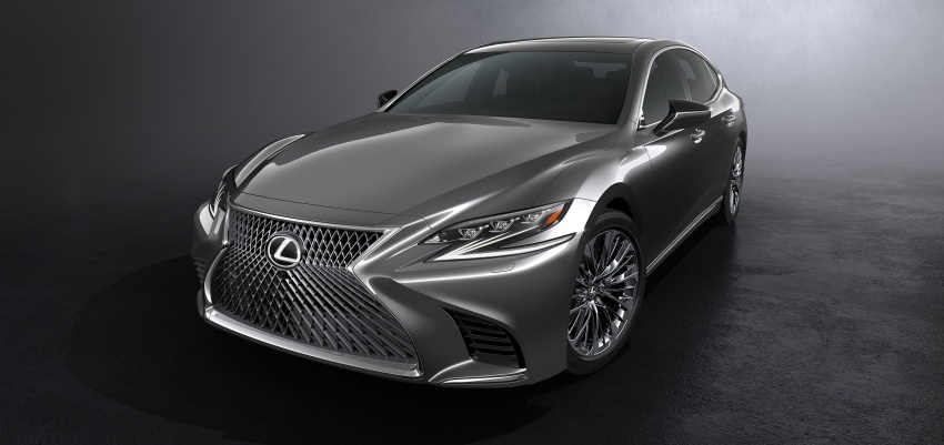 2018 Lexus LS 500 debuts with new 3.5 litre biturbo V6, 10-speed auto, pedestrian avoidance, 24-inch HUD Image #615718