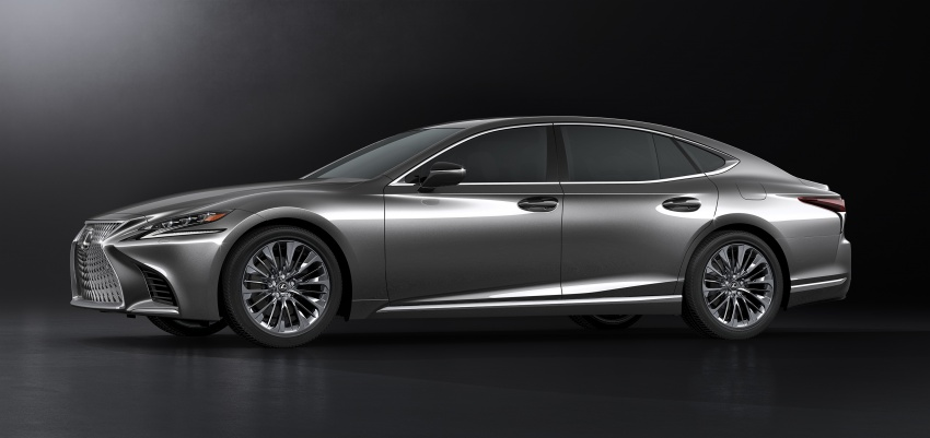 2018 Lexus LS 500 debuts with new 3.5 litre biturbo V6, 10-speed auto, pedestrian avoidance, 24-inch HUD Image #615719