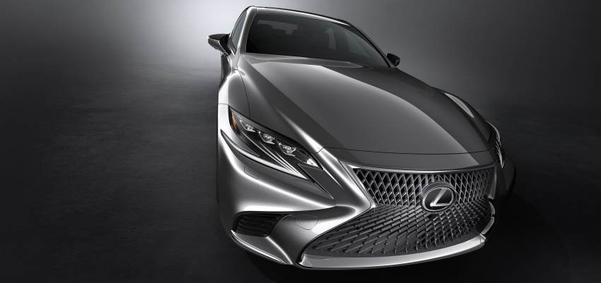2018 Lexus LS 500 debuts with new 3.5 litre biturbo V6, 10-speed auto, pedestrian avoidance, 24-inch HUD Image #615720