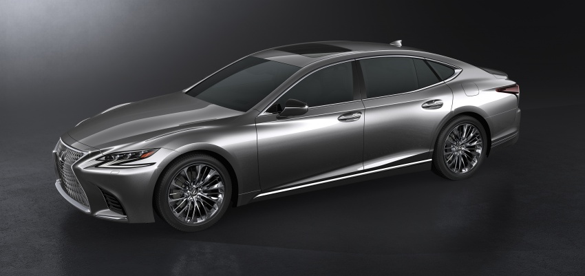 2018 Lexus LS 500 debuts with new 3.5 litre biturbo V6, 10-speed auto, pedestrian avoidance, 24-inch HUD Image #615722