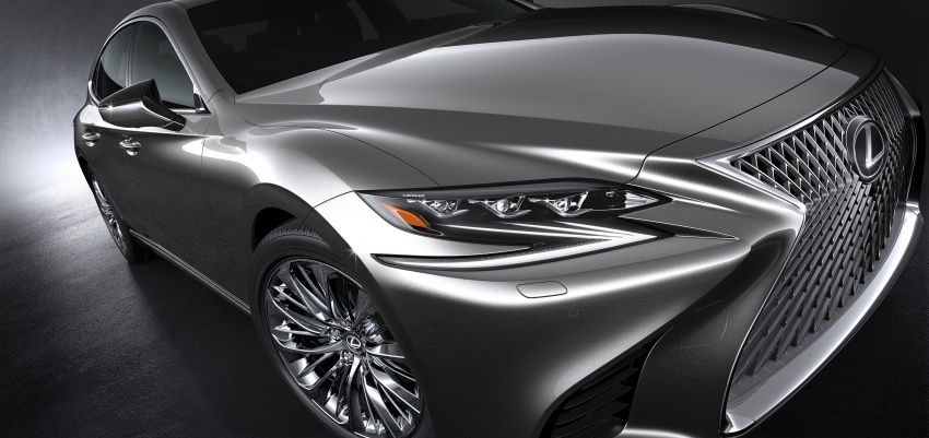 2018 Lexus LS 500 debuts with new 3.5 litre biturbo V6, 10-speed auto, pedestrian avoidance, 24-inch HUD Image #615724