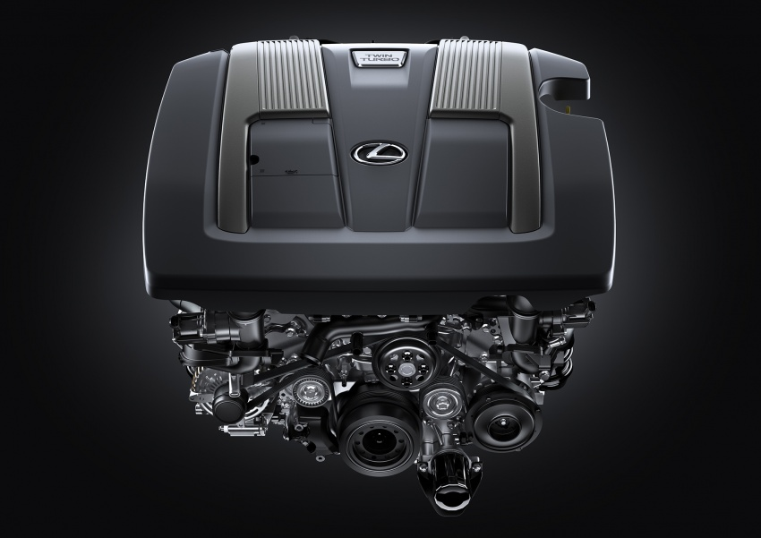 2018 Lexus LS 500 debuts with new 3.5 litre biturbo V6, 10-speed auto, pedestrian avoidance, 24-inch HUD Image #615733