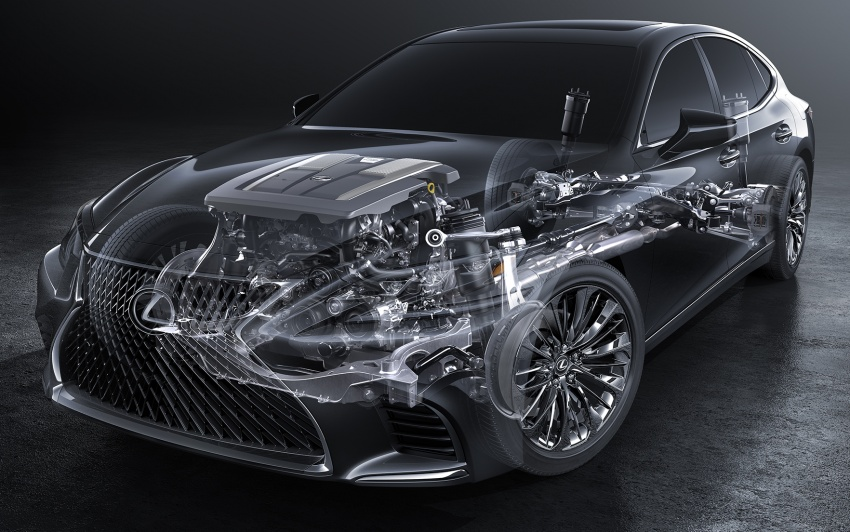 2018 Lexus LS 500 debuts with new 3.5 litre biturbo V6, 10-speed auto, pedestrian avoidance, 24-inch HUD Image #615735