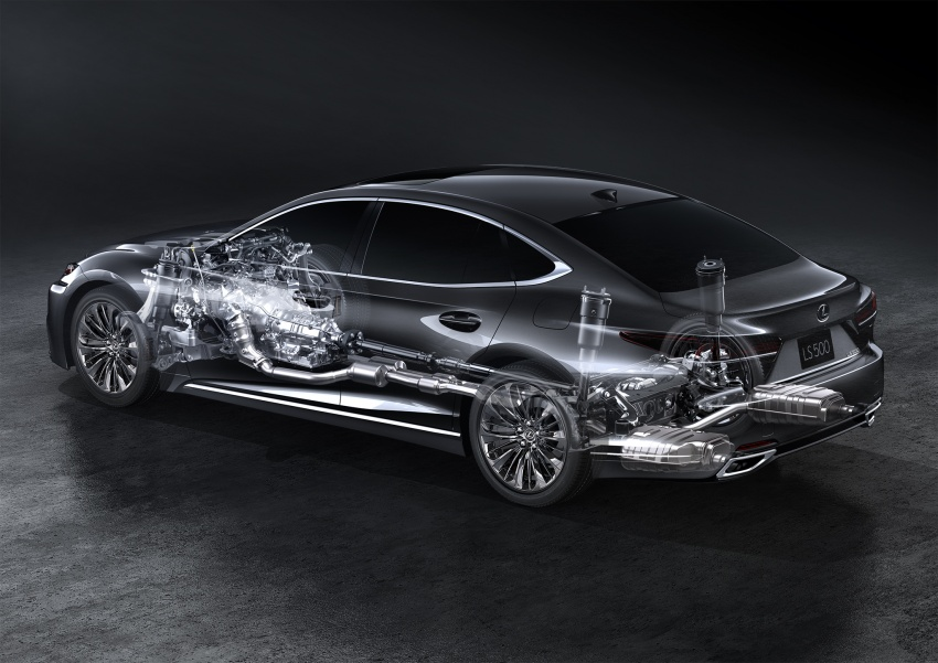 2018 Lexus LS 500 debuts with new 3.5 litre biturbo V6, 10-speed auto, pedestrian avoidance, 24-inch HUD Image #615737