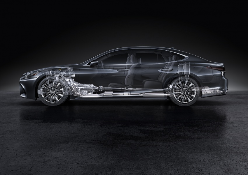 2018 Lexus LS 500 debuts with new 3.5 litre biturbo V6, 10-speed auto, pedestrian avoidance, 24-inch HUD Image #615738