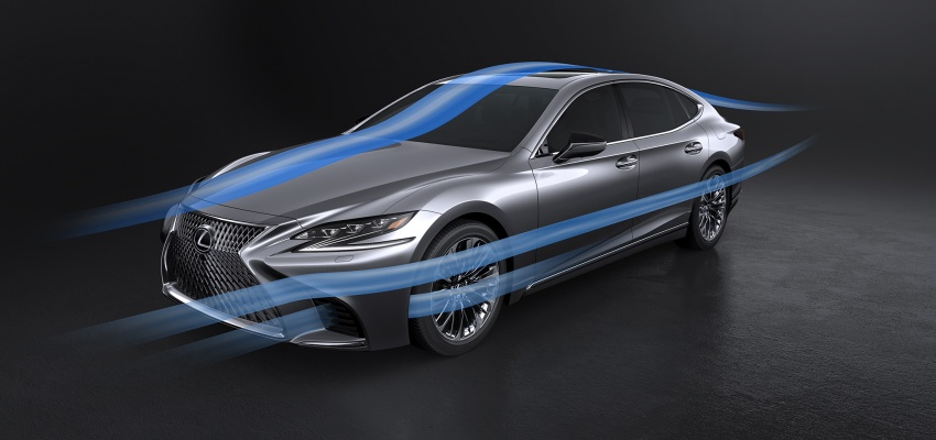 2018 Lexus LS 500 debuts with new 3.5 litre biturbo V6, 10-speed auto, pedestrian avoidance, 24-inch HUD Image #615740
