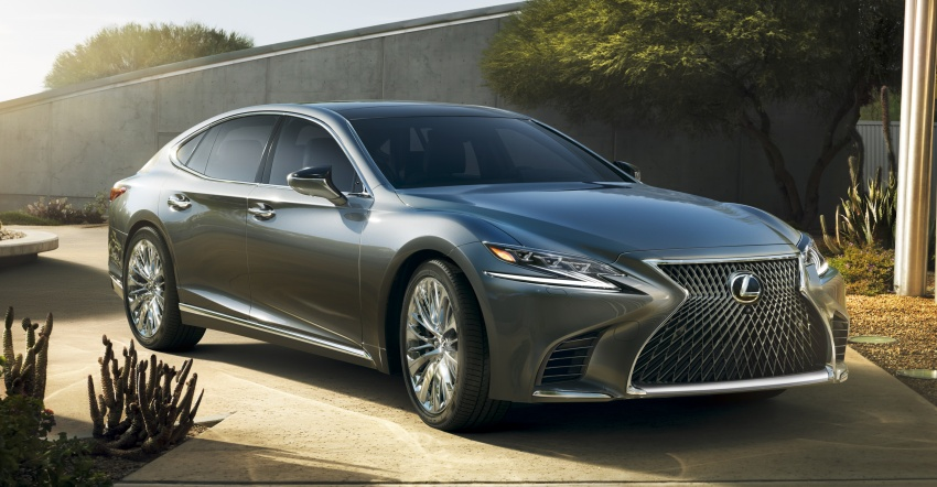 2018 Lexus LS 500 debuts with new 3.5 litre biturbo V6, 10-speed auto, pedestrian avoidance, 24-inch HUD Image #615701