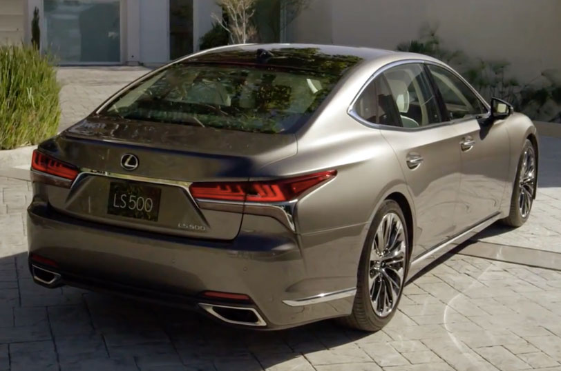 2018 Lexus LS 500 debuts with new 3.5 litre biturbo V6, 10-speed auto, pedestrian avoidance, 24-inch HUD Image #600907