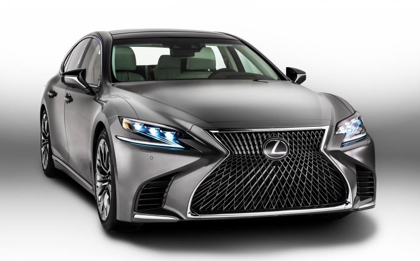2018 Lexus LS 500 debuts with new 3.5 litre biturbo V6, 10-speed auto, pedestrian avoidance, 24-inch HUD Image #600837