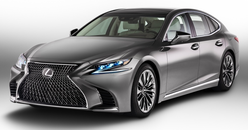 2018 Lexus LS 500 debuts with new 3.5 litre biturbo V6, 10-speed auto, pedestrian avoidance, 24-inch HUD Image #600878