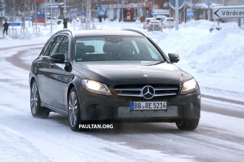 SPIED: Mercedes C-Class Estate facelift – interior seen Image #606114