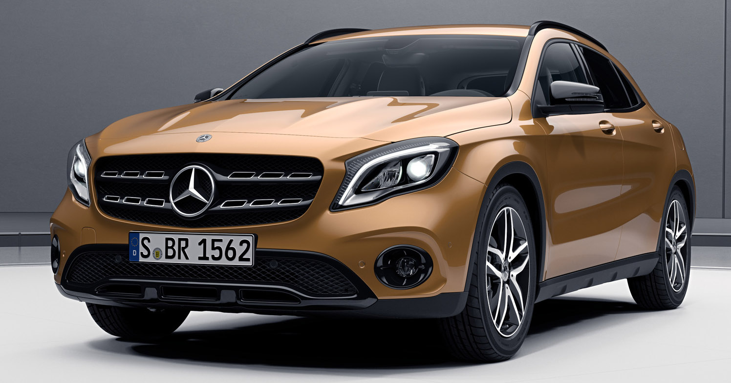 Mercedes-Benz GLA facelift dons the Night Package