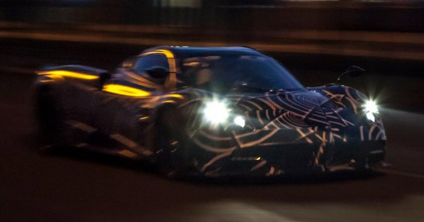 Pagani Huayra Roadster teased again, front shown Image #608233