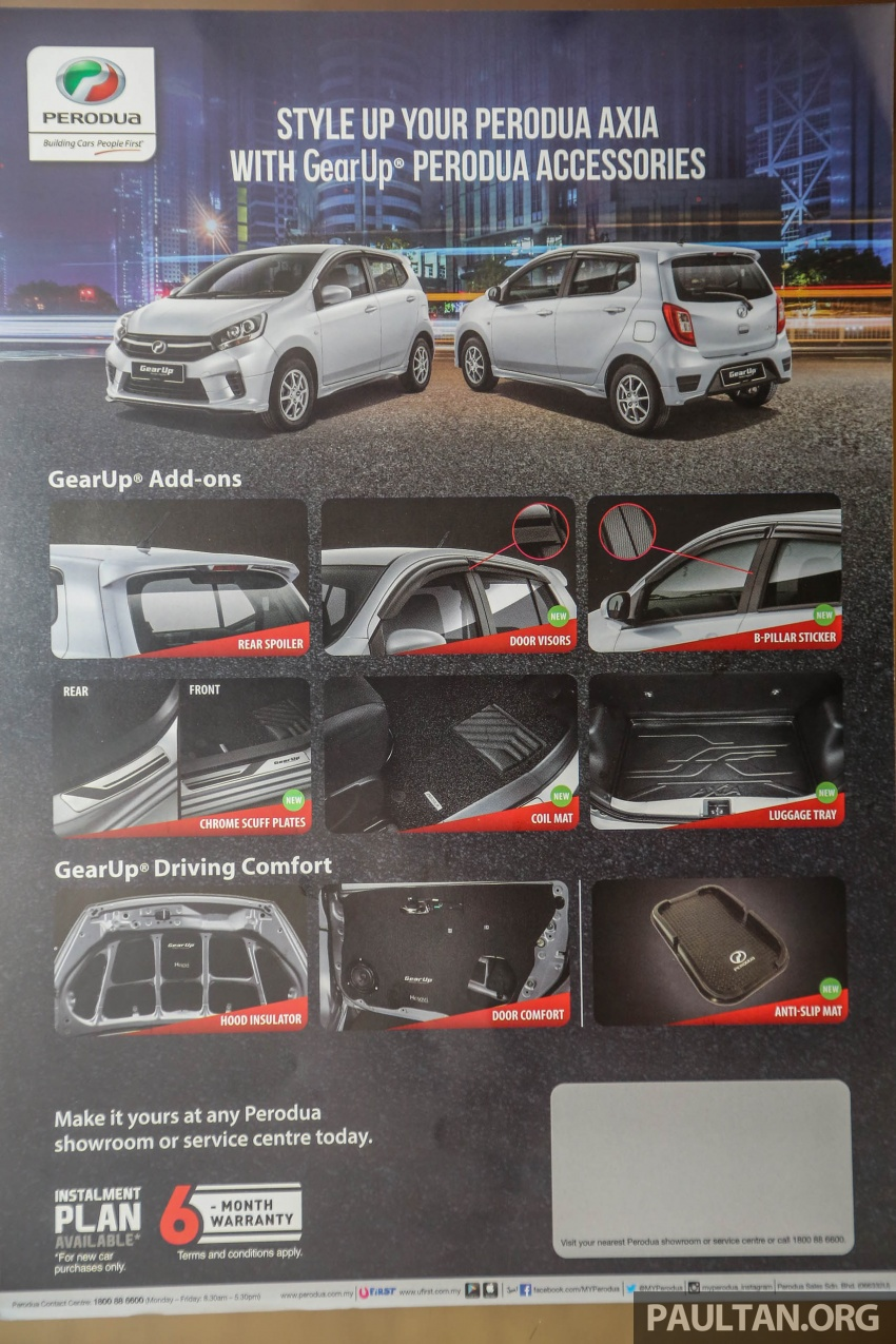2017 Perodua Axia facelift in showrooms, from RM25k Image #604902