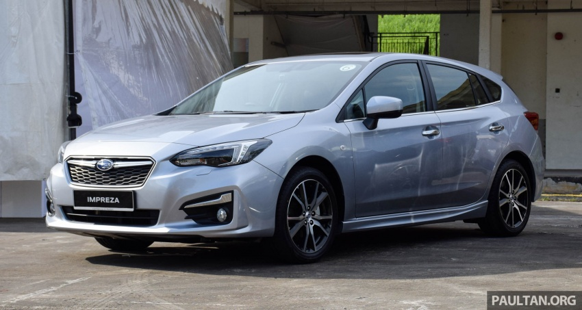2017 Subaru Impreza launched in Singapore – sedan and hatchback; NA 1.6L and 2.0L CVT with AWD Image #602903